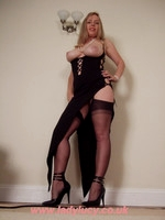 My long shapely legs are always clad in sheer silky FF stockings and high heels