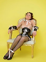 Naughty Chair plays saucy game with shy Mia. Will she avoid embarrassment?