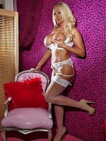 Lucy Zara looks like a real whore in this set, imagine visiting her for some fun in her naughty boudoir