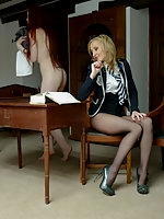 Sophia Smith, Miss Franka in uniform and pantyhose