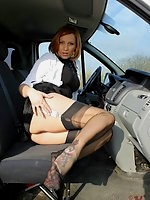 Auto flashing in nylons