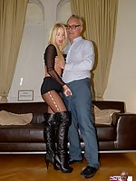 Blonde girl fuck in pantyhose