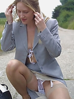 Retro Pinup Ladies In Slips French Knickers And Stocking Tease